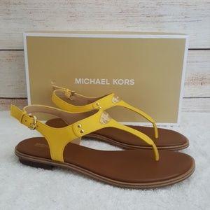 New Michael Kors MK Plate Thong Sandal
